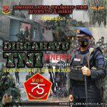 "Komandan Satuan Wanteror Mengucapkan Dirgahayu Tentara Nasional Indonesia ke-75 . . . ""Sinergi Untuk Negeri"" 5 Oktober 1945 – 5 Oktober 2020"