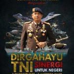 Komandan Pasukan Gegana Brigjen Pol Reza Arief Dewanto.,S.I.K Beserta Staff Dan Jajaran MengucapkanDirgahayu Tentara Nasional Indonesia ke-75
